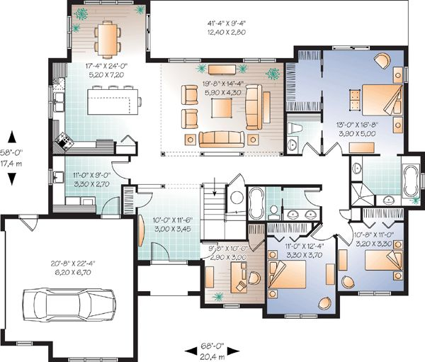 20 best floor plans images on pinterest floor plans house design and broadway - House plans with bonus rooms upstairs ...