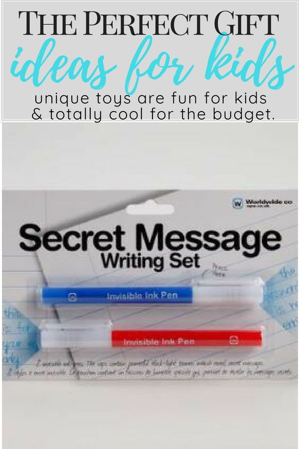 Practice Your Espionage Skills With This Secret Message Writing Gift Ideas For Kids Boys Christmas Girls