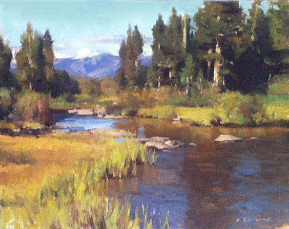 Frank Serrano - American / Los Angeles (born 1967) landscape, oil on canvas