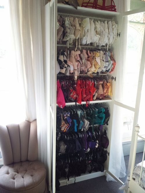Lingerie storage in Billy bookcase