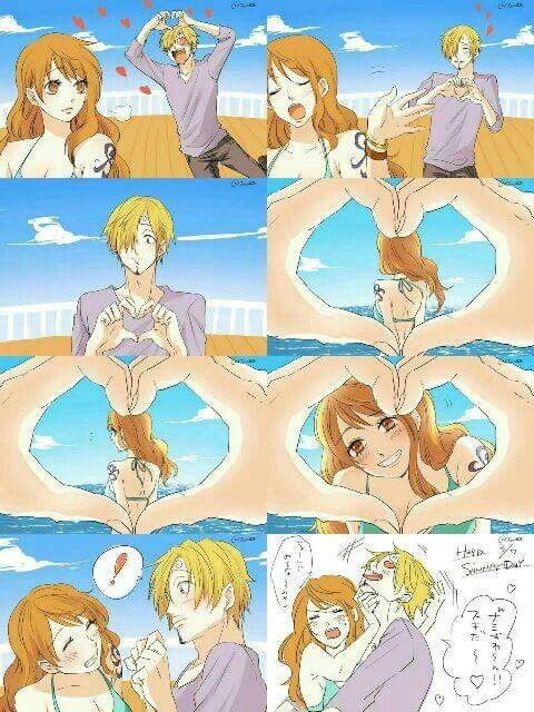 One Piece Sanji et Nami