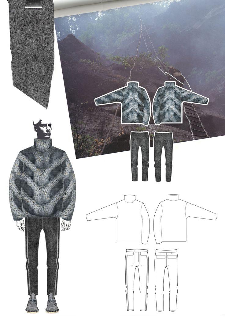 Fashion Sketchbook - fashion drawings; sculptural knitwear design; fashion portfolio // Georgia Mottershead