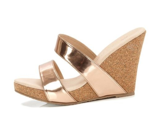 Rose Gold Metallic Wedge: Gold Summer, Houses Shoes, Jewelry Shoes Accessories, Colors Rocks, Metals Wedges, Summer Wedges, Barbie Shoes, Gold Metals, Rose Gold