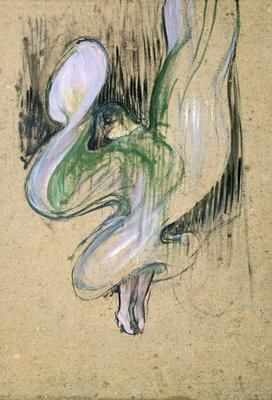 Henri de Toulouse-Lautrec - Study for Loie Fuller (1862-1928) at the Folies Bergeres, 1893 (oil on cardboard)