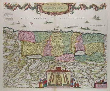 Terra Sancta, sive Promissionis, olim Palestina recens delineata, et in lucem edita per Nicholaum Visscher Anno 1659 | Sanders of Oxford