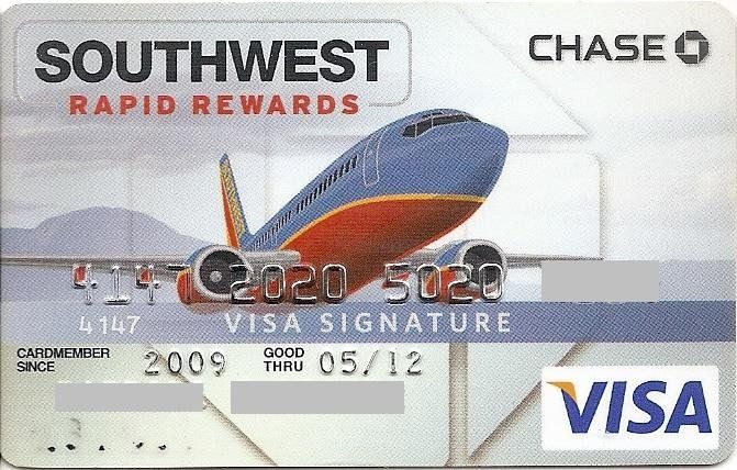 Chase, Southwest Rapid Rewards (Chase Bank USA, N.A., United States of America) Col:US-VI-0332