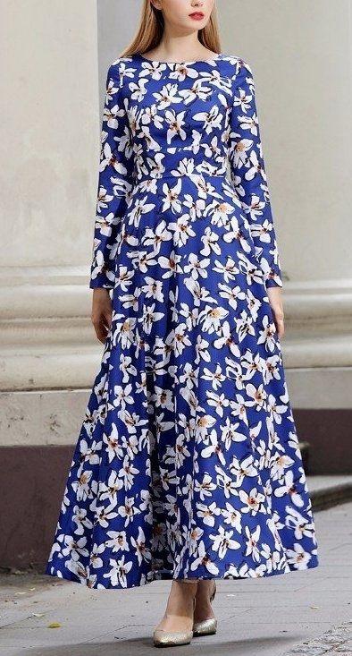 Женственные платья макси с цветочным принтом 2