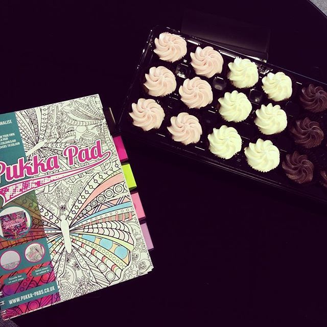 We've got the #FridayFeeling at Pukka Pads HQ! #Cupcakes