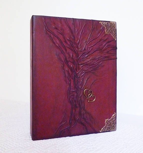 Leather Photo Album Anniversary Wedding Gift Honeymoon #weddingalbum, #leatheralbum, #anniversary, #leathergifts, #burgundy, #birthdaygift, #leatherart