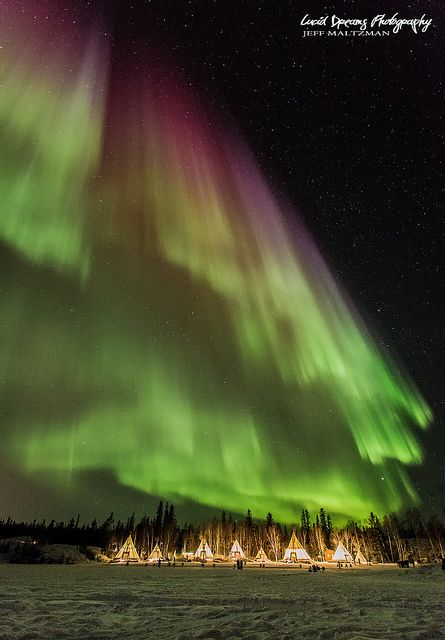 Someday I want to see this! Northern Lights - Yellowknife, Canada
