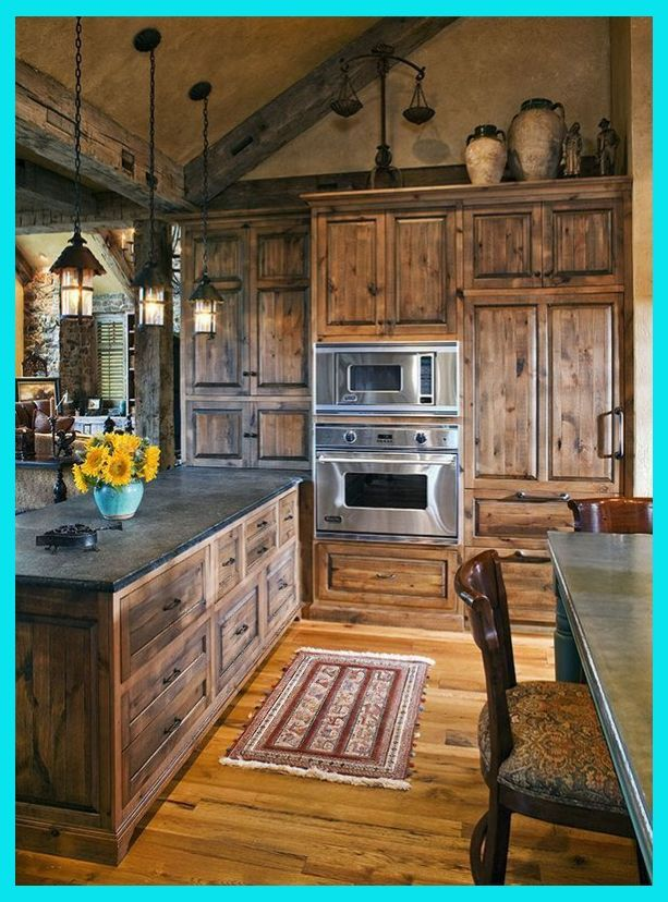 40 Rustic Kitchen Designs To Bring Country Life Rustic Kitchen Design Rustic Chic Kitchen Rustic Farmhouse Kitchen Kitchen Style Farmhouse Kitchen Design