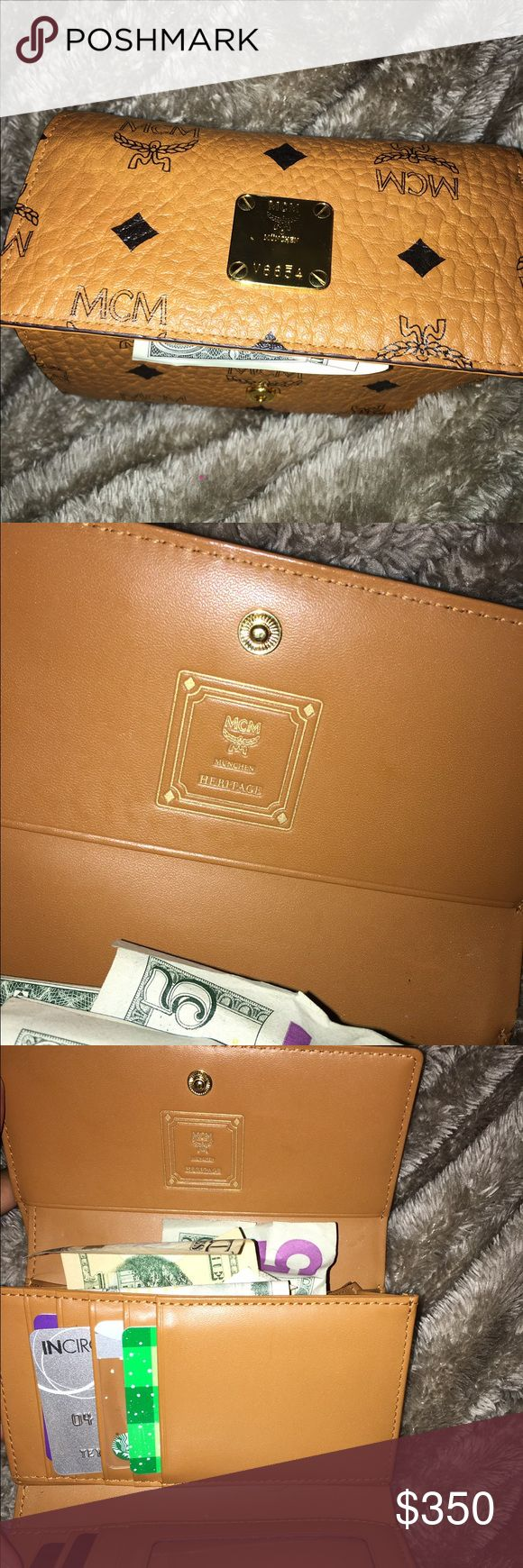 Authentic MCM wallet Condition is new ! Purchased from Bloomingdales comes with dust bag MCM Bags Wallets