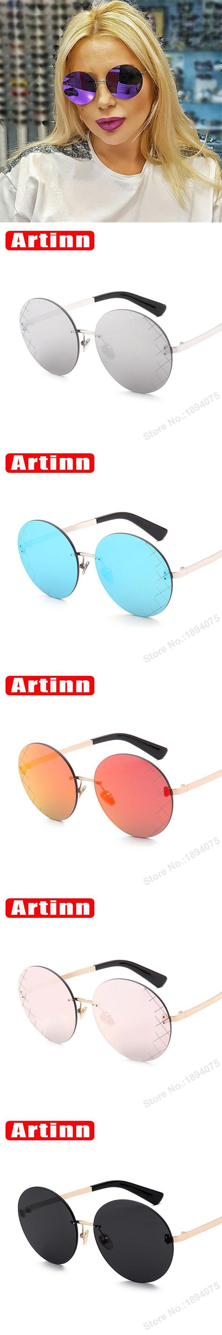 Luxury High quality fashion round mirror sunglasses women brand designer 2017 vintage oversized retro sun glasses 986053Y