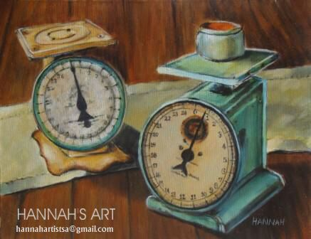 Artist: HANNAH, Old scales, oil on canvas, 450 x 350, price on request.