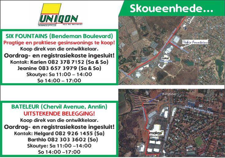 Units on show  Contact charl@uniqon.co.za