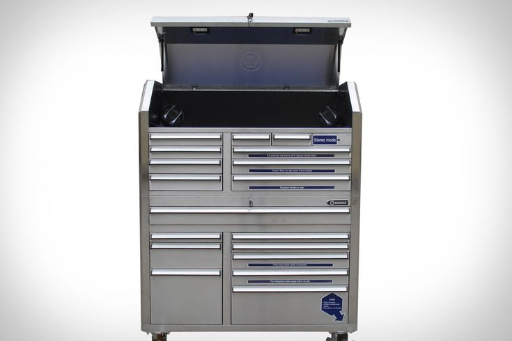 Kobalt 53-inch Tool Chest w/Pioneer Sound System ($1,700). This hulking beast of a tool chest offers killer features like LED lighting, an integrated four-plug power strip, a Pioneer sound system with remote and MP3/CD player, included drawer liners, double-walled construction, and a 2,200 lbs. capacity with casters that lock, swivel, and absorb shocks.