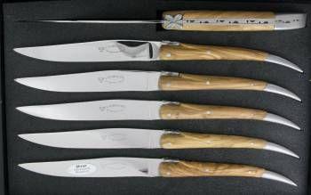 -L'Aubracien Table knives Olivewood handle (Set of 6)
