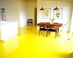 Yellow epoxy floor
