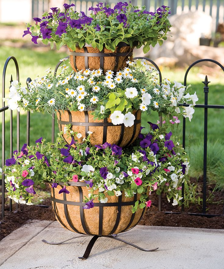 53 Best Tiered Stand Planter Ideas Images On Pinterest