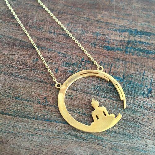 Peaceful Buddha Gold Necklace