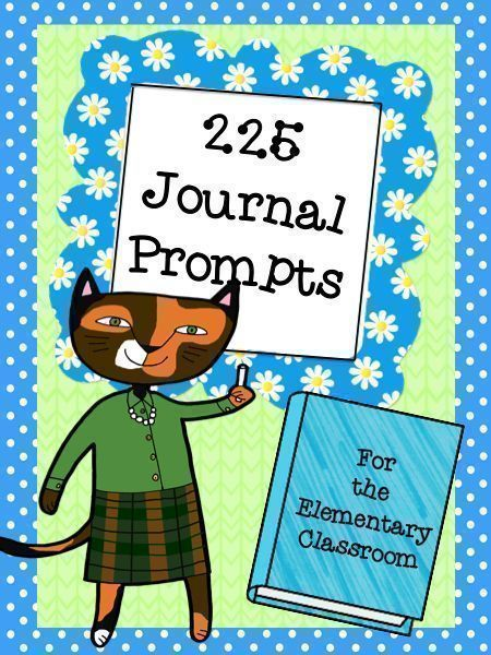 225 of the best journal prompts for the elementary classroom located all in one easy spot! List includes a check off area and a spot to write in the date. 18 pages can be placed in a binder and reused from year to year!