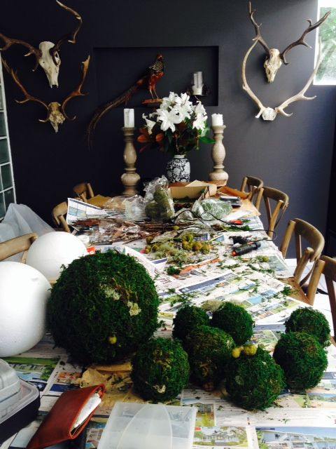 Moss ball production - inside the Florentina Workroom.