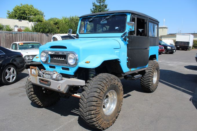 M-23 1974 Toyota Land Cruiser - $13,995 - Se Habla Español - Financing Available - V8 Chevy Engine installed, Manual transmission, Four wheel drive. Good condition. Classic car. Selling as it is.