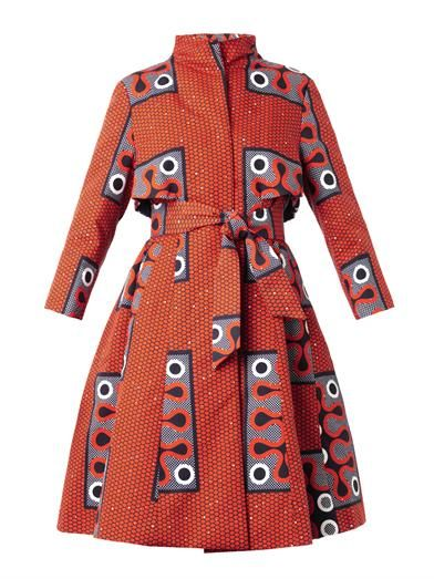 STELLA JEAN, Clara tribal-print A-line trench coat (198865) $1,406 Now $844 Save 40% (as of Jan. 2, 2015). Found on Matches Fashion dot com.