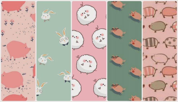 Fondos de pantalla chulos para el móvil (7): piggy, rabbit,  sheep