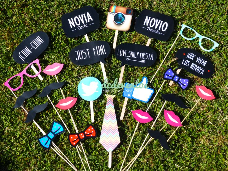 Kit Photobooth: Kit de accesorios para fotos divertidas! #photobooth