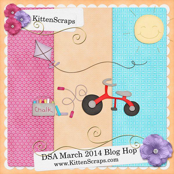 DSA March Blog Hop Freebie - KittenScraps & Friends Forum, Blog Freebie moved to the forum