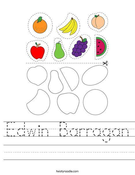 Edwin Barragan Worksheet - Twisty Noodle in 2020 ...