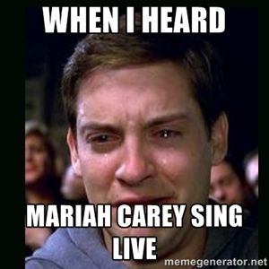 When I heard Mariah Carey sing live | crying peter parker