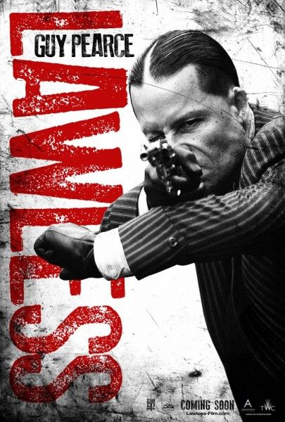 """There is a great deal of """"Lawless""""-ness abounding in the seven character posters for John Hillcoat's depression era bootleg drama starring Tom Hardy, Shia LaBeouf, Jessica Chastain, Gary Oldman, Guy Pearce Mia Wasikowska and Jason Clarke."""