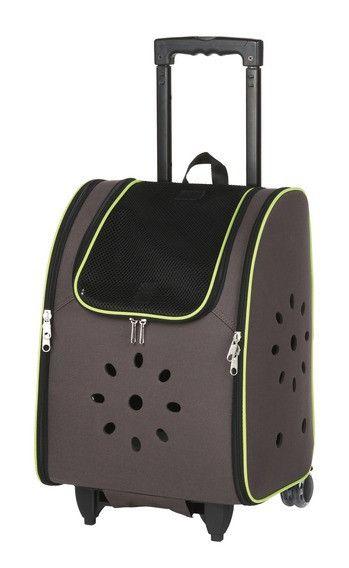 Trixie Trolley  Neo. Lekker transportbag i slitesterk nylon. Maks bæreevne 9 kg. Liten og nett - passer utmerket til liten hund, katt, valp eller kattunge. Størrelse 38x24x26 cm. Passer inn i henhold til alle flyseter. Godkjent som kabinbagasje. 1.150,00 kr