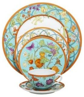 Hermes Siesta Island 5-Piece Place Setting - contemporary - Dinnerware Sets - Fine Brand Sales