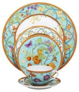 Hermes Siesta Island 5-Piece Place Setting - contemporary - Dinnerware Sets - Fine Brand Sales