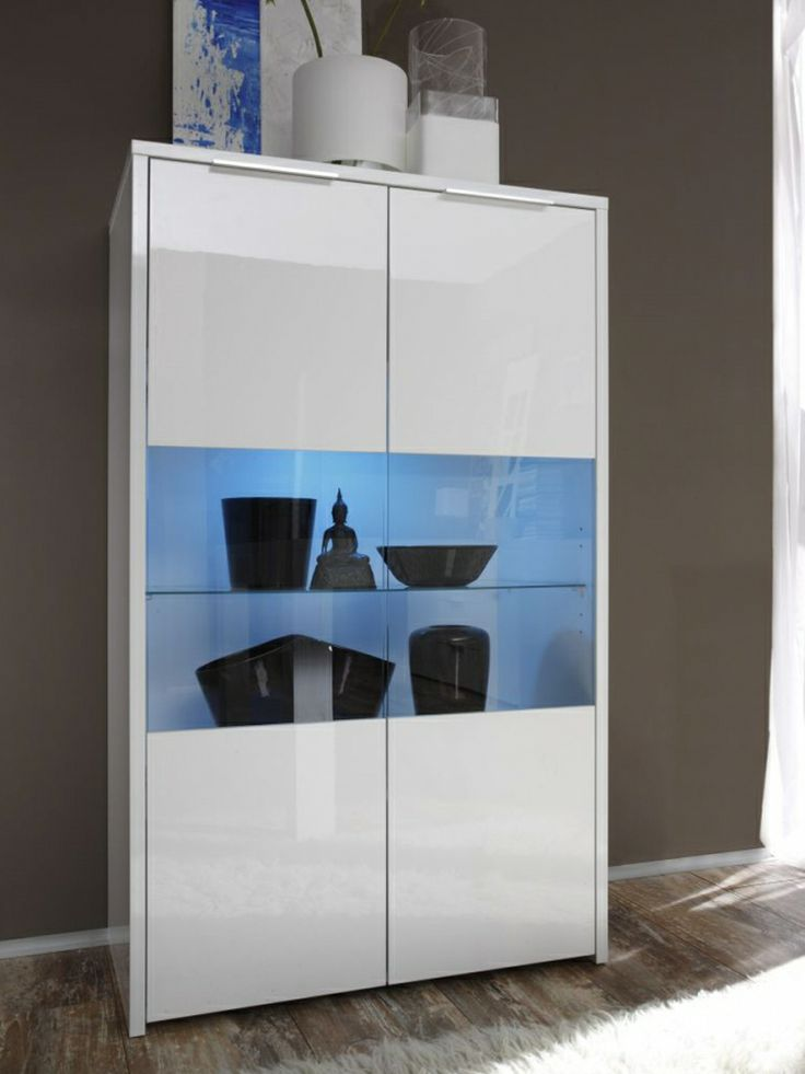 Best 25+ Vitrine Weiß Hochglanz Ideas That You Will Like On ... Wohnzimmer Vitrine Modern