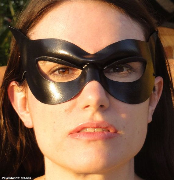 Catwoman Halloween costume cosplay black leather by RavenwoodMasks, $40.00