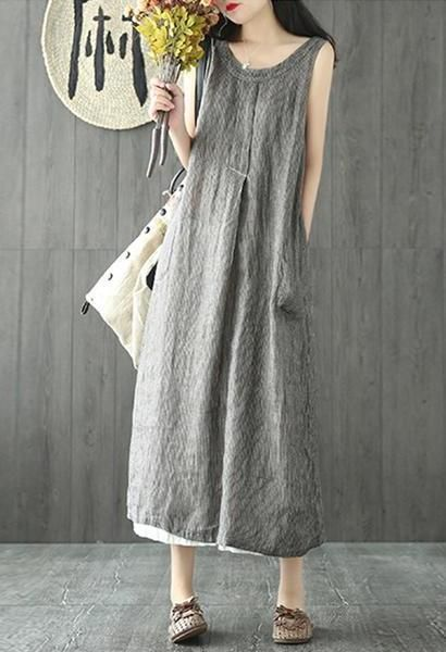 f690f5290575 New 2018 Oversized ZANZEA Women Vintage Solid Baggy Vest Tank Vestido Casual  O Neck Pockets Sleeveless Beach Party Summer Dress