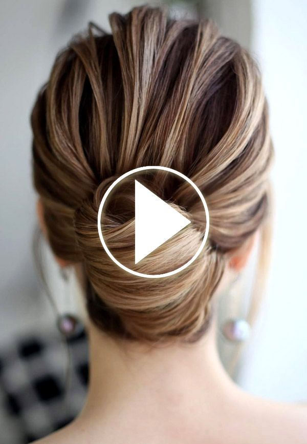 Easy Hair Bun Tutorial #easyhair Easy Hair Bun Tutorial (Youtube video)