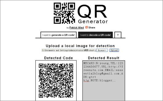 QR reader http://freenuts.com/best-5-free-online-qr-code-readers/