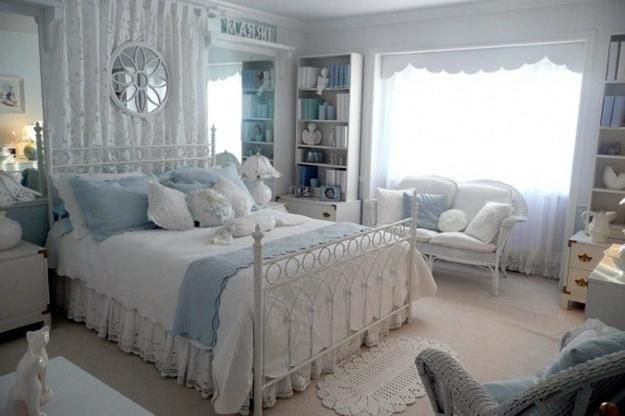 modern bedroom decorating in provencal style