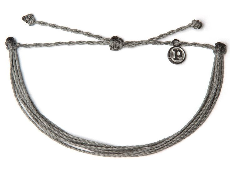 Solid Grey | Pura Vida Bracelets - all 3 together or seperate