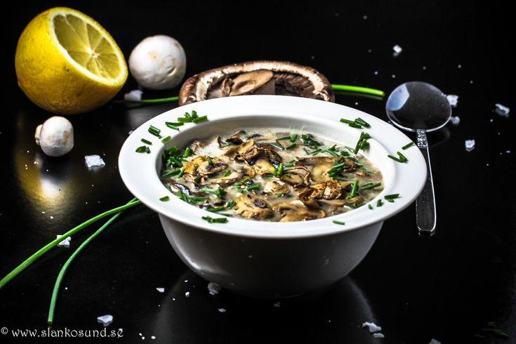 Krämig Svamp & Potatissoppa #krämig #svampsoppa #potatissoppa #svamp #potatis #sopprecept #slankosund