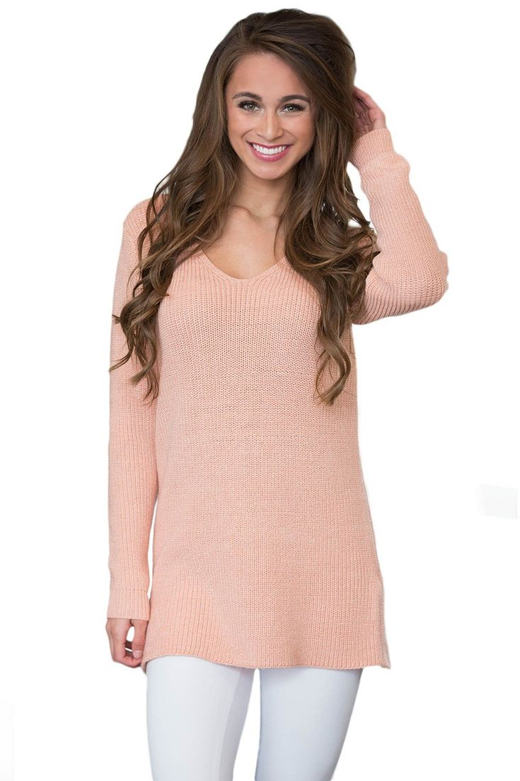 Fashion Pink Never Look Back Lace Up Sweater ChicLike.com