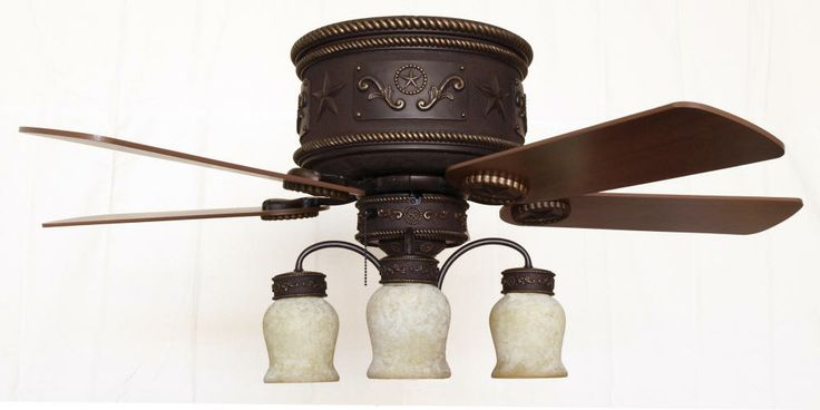 1000 Images About Rustic Ceiling Fans With Lights On