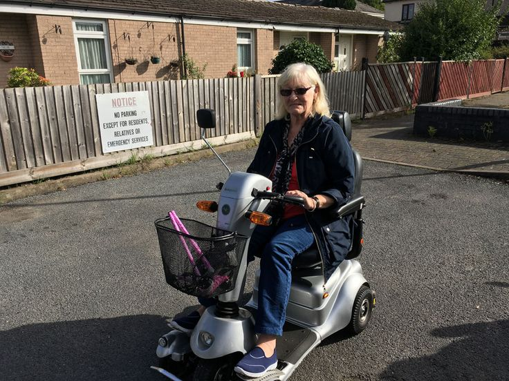 Mrs Shirley out and about on her Quingo Plus mobility scooter get your demo here http://contact.quingoscooters.com/social-mobility-scooters