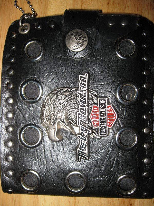 ALL 3 OF THESE HARLEY DAVIDSON WALLETS