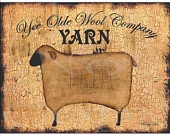 Digital download primitive sheep large full page printable image for pillows , framed print , labels , tote bags